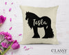 Personalized Gypsy Horse Pillow Cover - Your Horse's Name with Gypsy Horse Silhouette