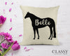 Personalized Quarter Horse Pillow Cover - Your Horse's Name with Quarter Horse Silhouette
