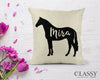 Personalized Sport Horse Pillow Cover - Your Horse's Name with Sport Horse Silhouette
