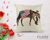 Quarter Horse Pillow Cover - Patriotic Quarter Horse