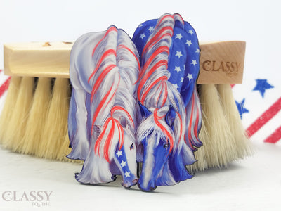 Set of 3 Patriotic Gypsy Horse Ornaments