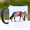 Patriotic Quarter Horse Coffee Mug - 11 oz