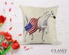 Arabian Horse Pillow Cover - Patriotic Horse