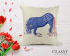 Gypsy Horse Pillow Cover - Patriotic Bowing Gypsy Horse
