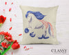 Gypsy Horse Pillow Cover - Patriotic Cantering Gypsy Horse