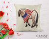 Fjord Horse Pillow Cover - Patriotic Fjord Horse