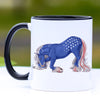 Patriotic Bowing American Gypsy Horse Coffee Mug - 11 oz