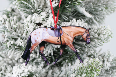 Buckskin with Blanket Appaloosa English Pleasure Horse Ornament