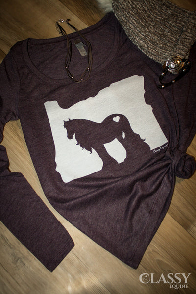 Love My Gypsy Horse + State - Long Sleeve Tee