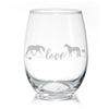 Quarter Horse Love Stemless Wine Glasses