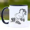 Delighted Rearing Gypsy Horse Coffee Mug - 11 oz