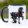 Romeo Friesian Horse Coffee Mug - 11 oz