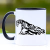 Sliding Stop Reining Horse Coffee Mug - 11 oz