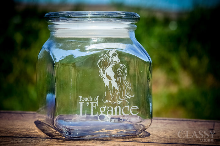Personalized 1.6 Qt Glass Jar with Lid