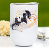 Black and White Tobiano Gypsy Horse Wine Tumbler