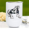 Traditional Tobiano Gypsy Cob Horse Wine Tumbler