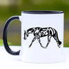 Western English Pleasure Horse Coffee Mug - 11 oz