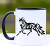 Tribal Style Trotting Fjord Horse Mug - 11 oz
