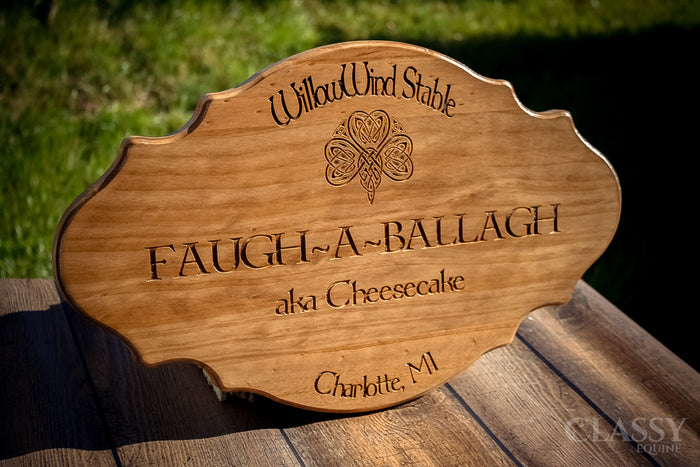 Personalized Wooden French Provincial Stall Door Plaque