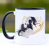 Traditional Black and White Gypsy Horse Mug