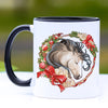 Buckskin Gypsy Horse Christmas Wreath Mug - 11 oz
