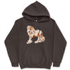 Fall Chestnut and White Tobiano Gypsy Horse Hooded Sweatshirt