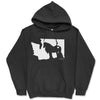 Love My Gypsy Horse + State Black Hooded Sweatshirt