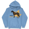 Hello Autumn Sport Horse Hooded Sweatshirt - Available in Blue or Pink