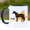 Hello Autumn Sport Horse Coffee Mug - 11 oz
