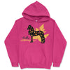 Hello Autumn Friesian Horse Hooded Sweatshirt - Available in Blue or Pink