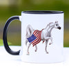 Patriotic Arabian Horse Coffee Mug - 11 oz