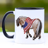 Patriotic Fjord Horse Coffee Mug - 11 oz