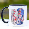 Patriotic BFF Gypsy Horse Yearlings Coffee Mug - 11 oz