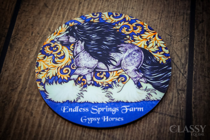 Personalized Equestrian Drink Coasters