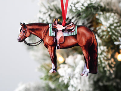 Chestnut Western Quarter Horse Ornament