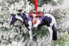 Black & White Tobiano Western Paint Horse Ornament