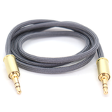 Double Tap Auxiliary Cable - Gun Metal Gray