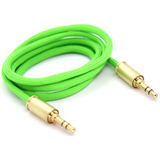 Double Tap Auxiliary Cable - Neon Green
