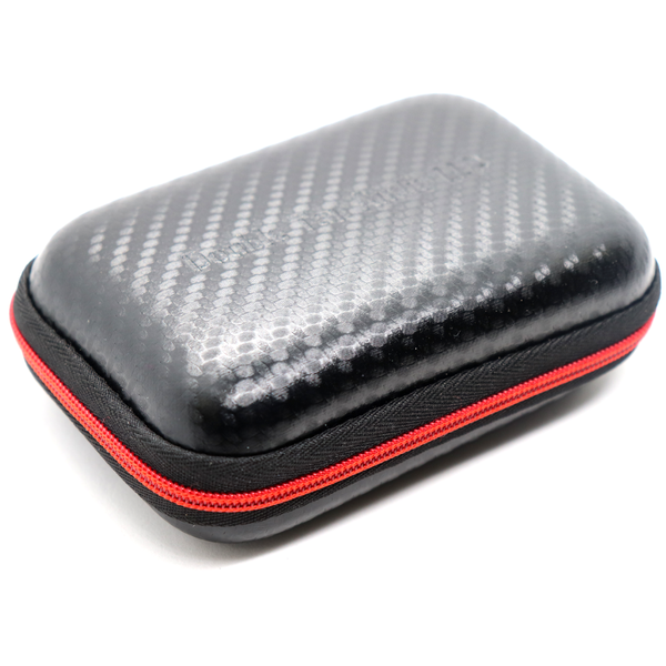Replacement Double Tap Audio Hard Case - Carbon Fiber and Red