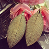 Earrings made with Quina leaf - Simply Nature Bio Goods