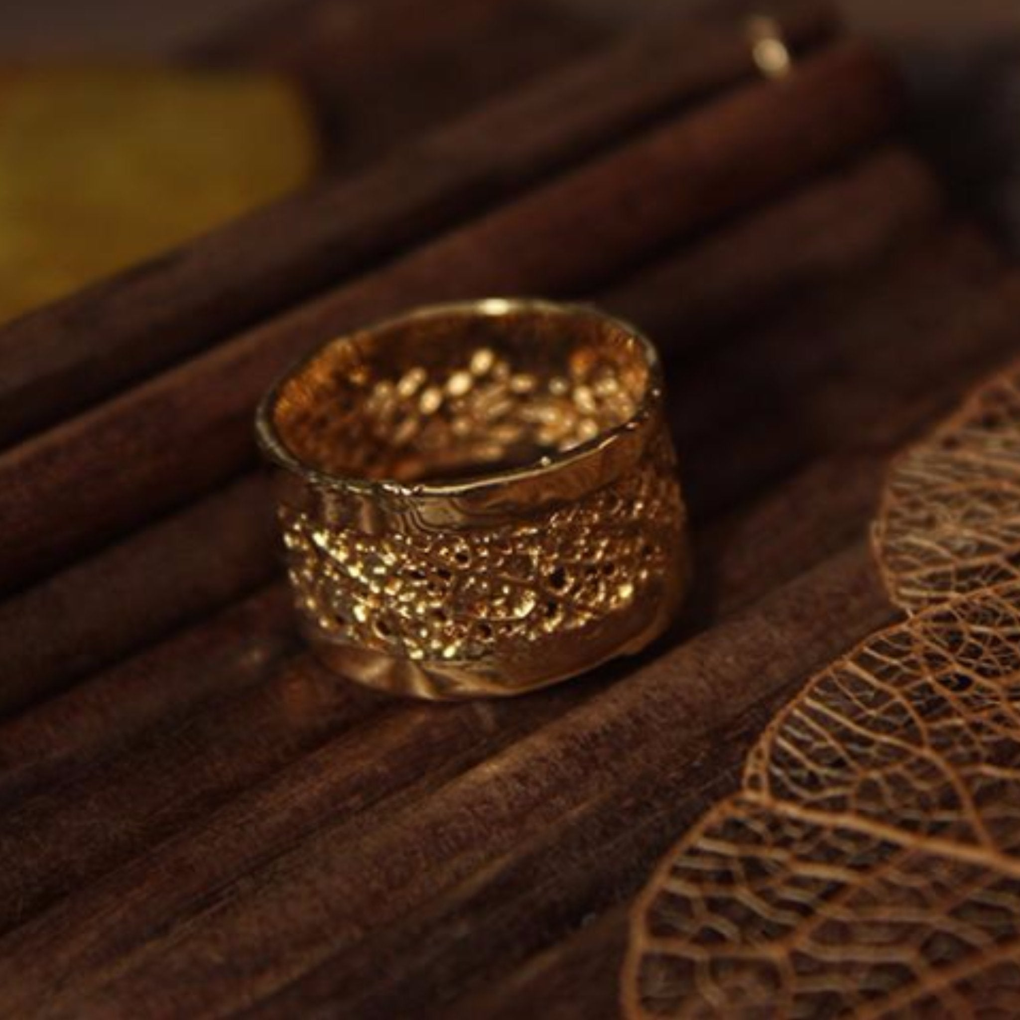 rings jewellery taylor kirsty wedding gold leaf