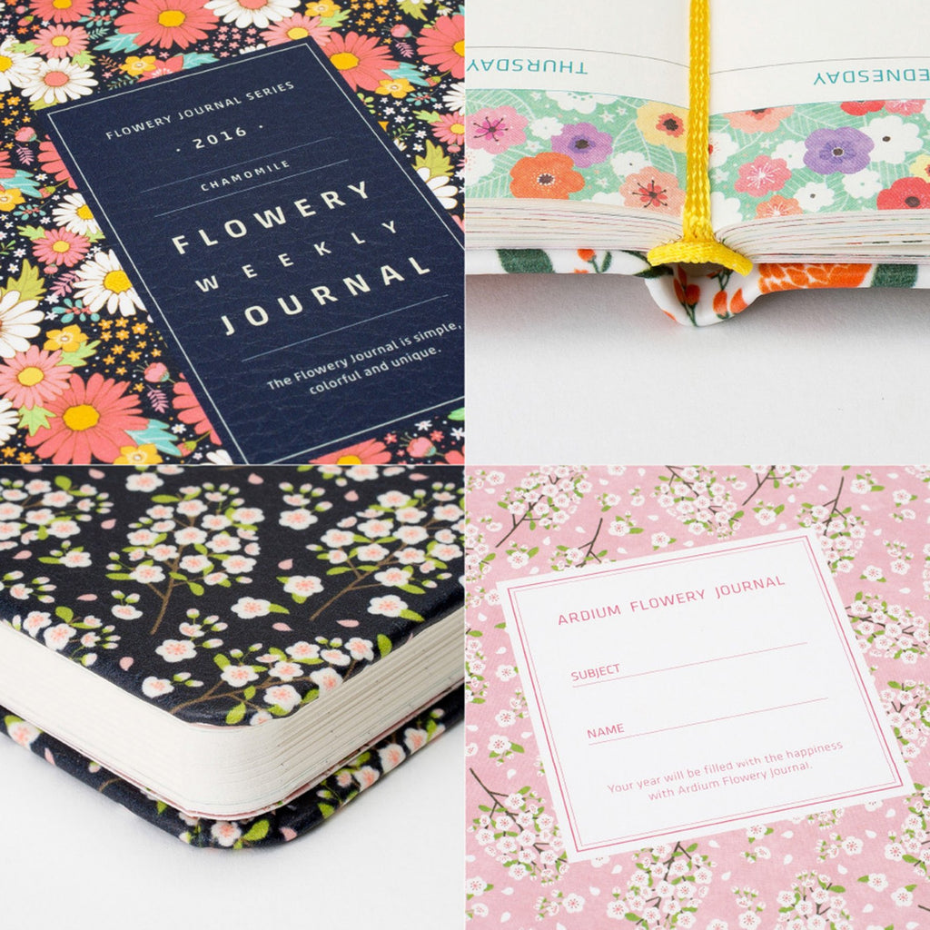 Cute Floral Notebook Planner