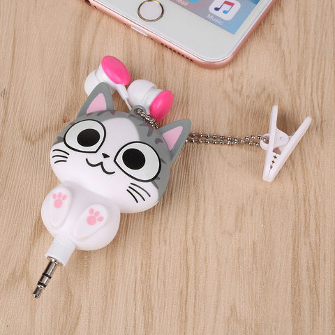 Cute Cat Headphone Earbuds