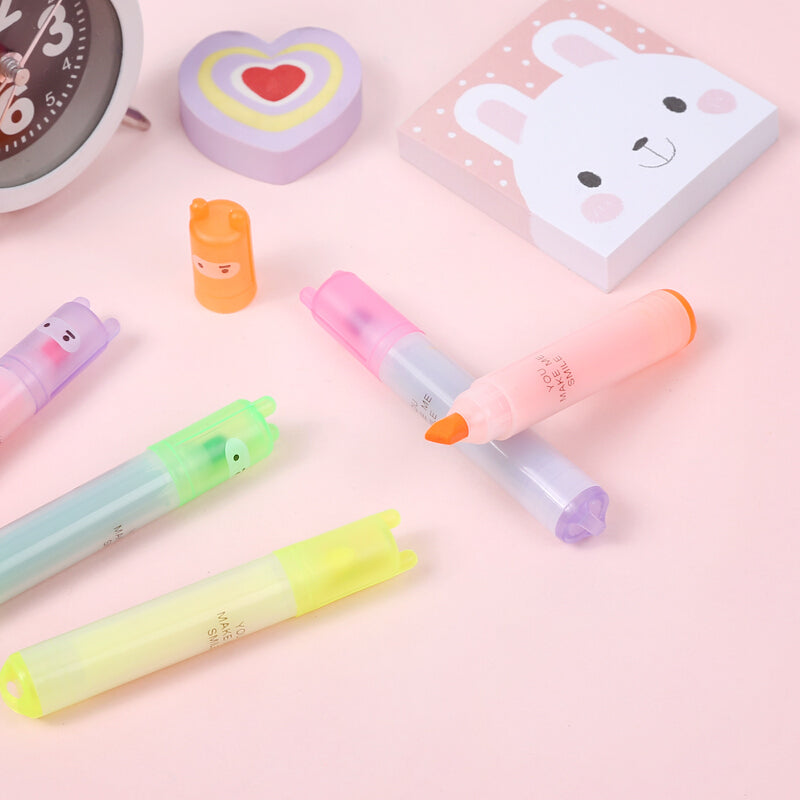 Cute 6 Color Mini Ninja Highlighter