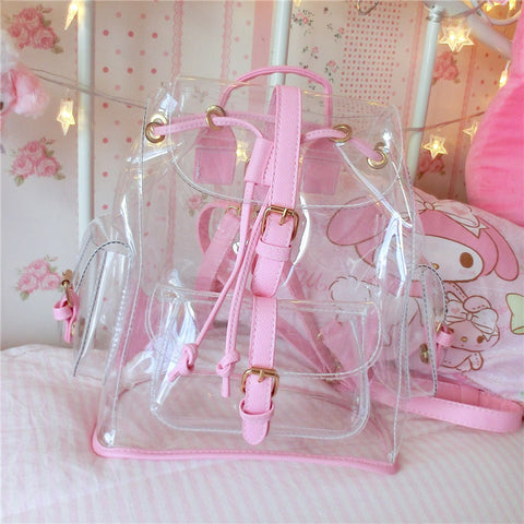 Transparent Kawaii Backpack