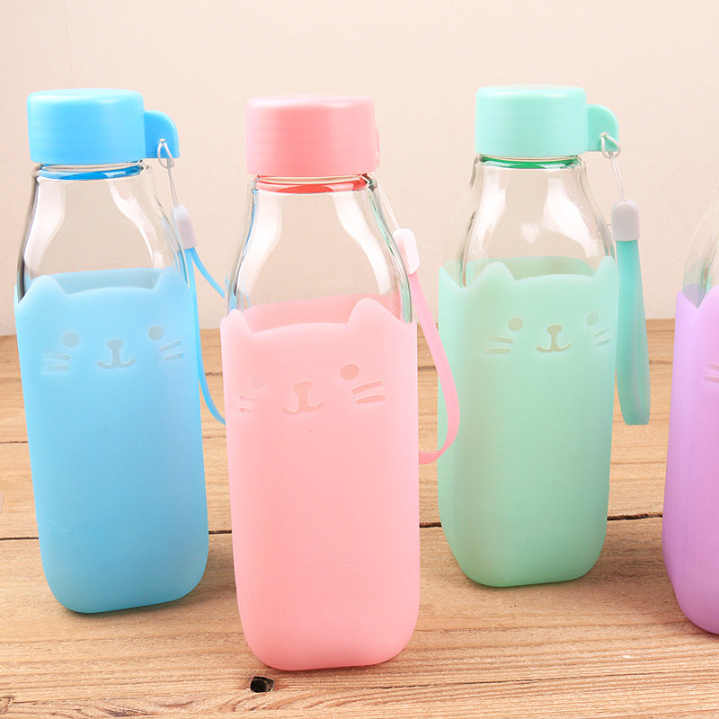 Leak-Proof Glass Water Bottle