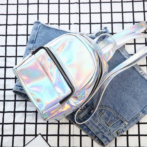 Silver Hologram Backpack