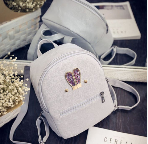 Glitter Bunny Ears Backpack