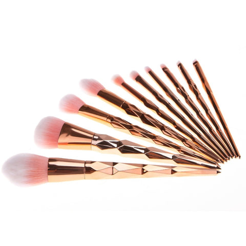 Rose Gold Unicorn 10 Brushes Set