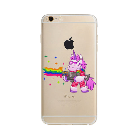 Cute Rainbow Unicorn iPhone Case